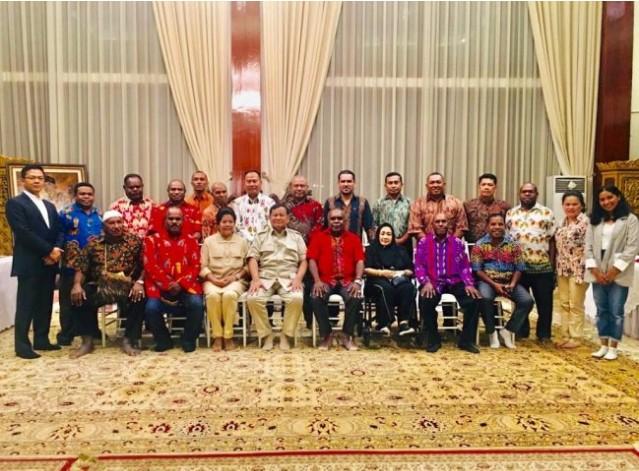 Tim Forum Peduli Papua Maju Bertemu Menteri Pertahanan