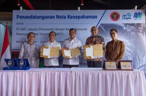 Cegah Terorisme, MRT dan BNPT Teken Kerjasama