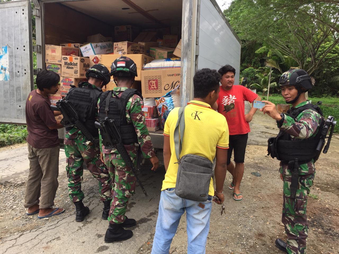 Ciptakan Suasana Tahun Baru di Papua Aman, Satgas Raider 300 Gelar Pemeriksaan
