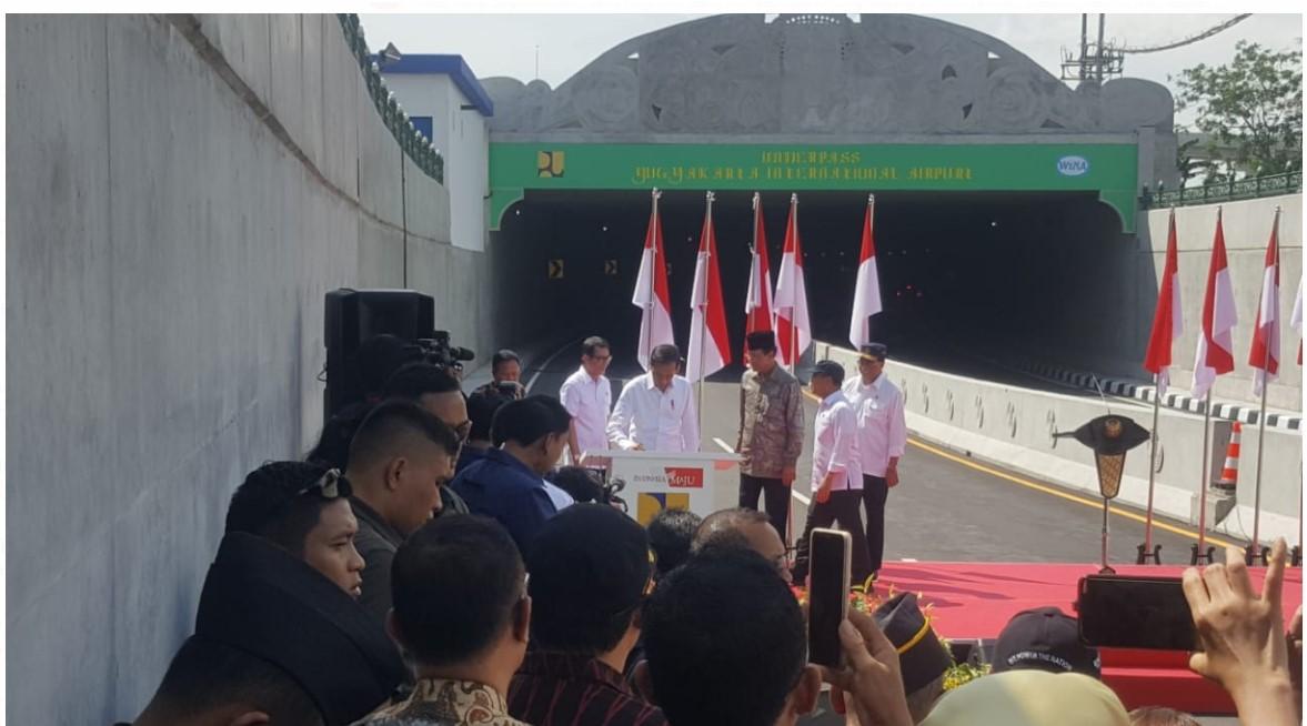 Resmikan Underpass YIA, Jokowi Berharap Ekonomi DIY Meningkat