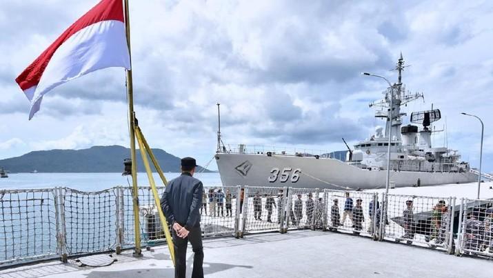 Di Natuna, Jokowi: Tidak Ada Kapal Asing Masuk Teritorial RI!