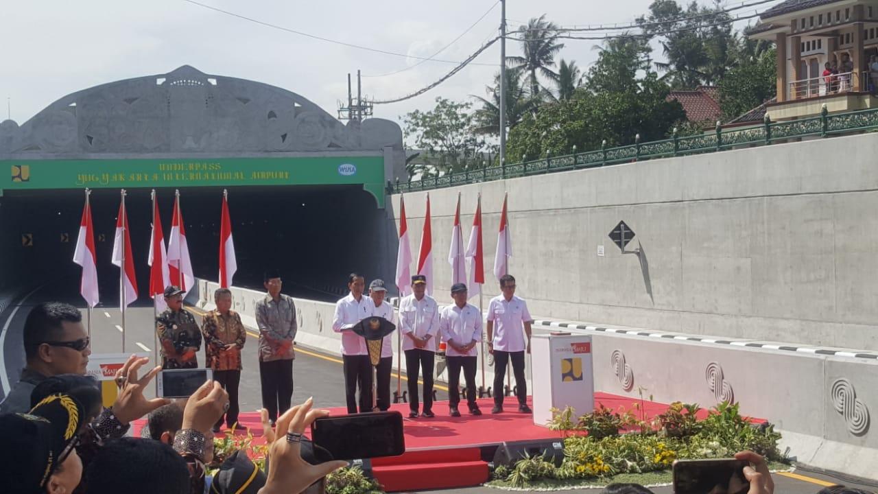 Presiden Jokowi Resmikan Underpass Yogyakarta International Airport