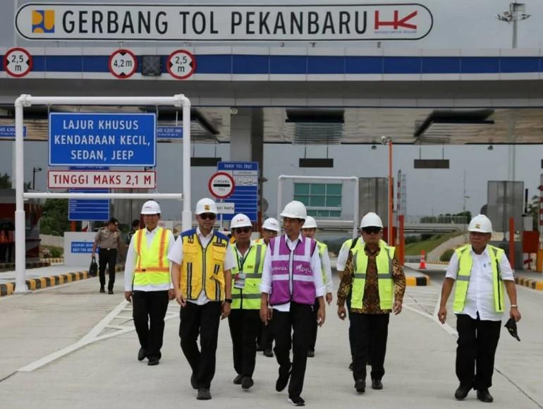 Jokowi Targetkan Tol Pekanbaru-Dumai Selesai April