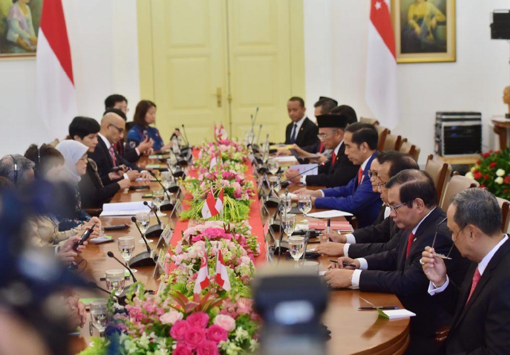 Lakukan Pertemuan Bilateral, Presiden Jokowi: Untuk Perkuat Kerja Sama dengan Singapura-Indonesia