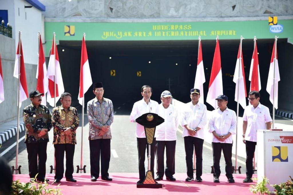 Presiden Jokowi Resmikan Underpass Terpanjang Di Indonesia