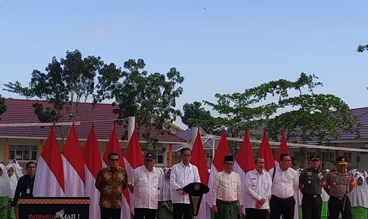 Presiden Jokowi Resmikan Rehabilitasi MTsN 3 Pekanbaru