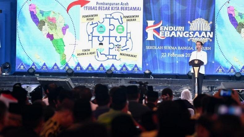 Kenduri Kebangsaan di Bireuen, Presiden Jokowi: Mari Bersatu Hadapi Tantangan Bangsa