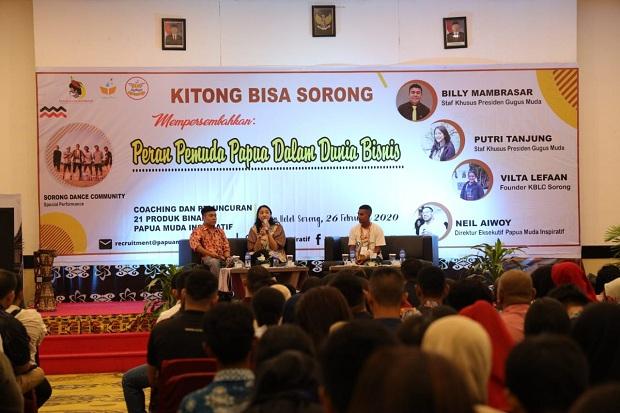 Stafsus Milenial Presiden Jokowi Dorong Anak Muda Papua Berbisnis
