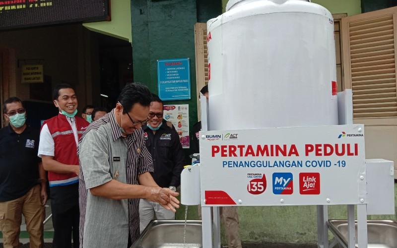 Pertamina Pasang 10 Wastafel Portabel di 8 Pasar Jogja