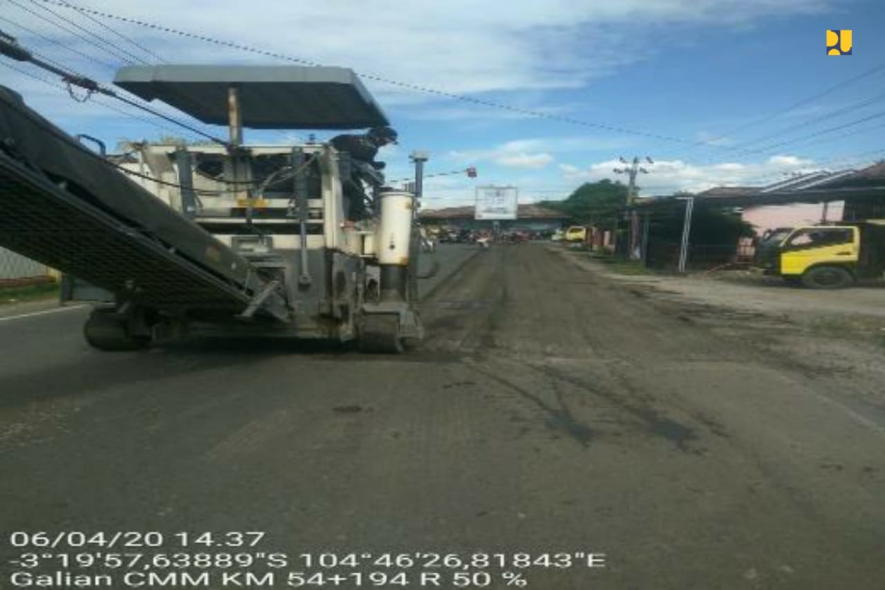 Pemerintah Preservasi 3 Ruas Jalan Lintas Timur Sumsel Guna Perlancar Ditribusi Logistik