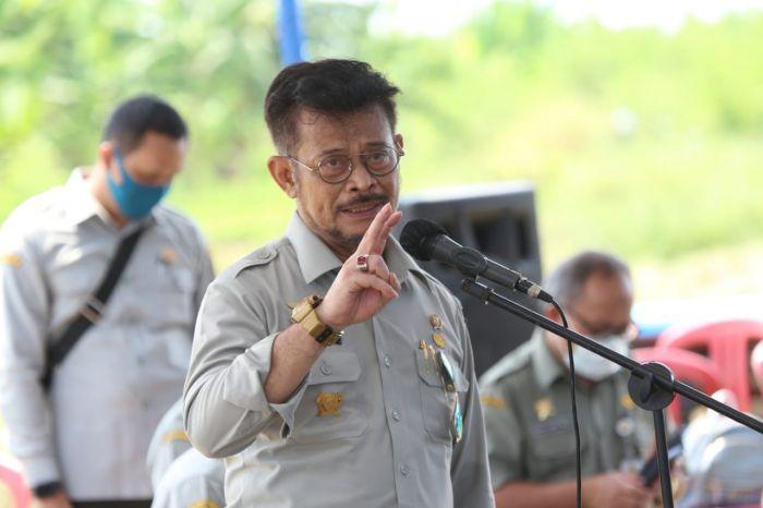 Menteri Pertanian Panen Padi Inbrida di Kabupaten Pandeglang