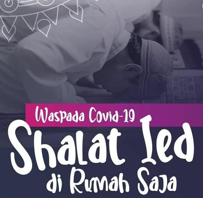 Shalat Idul Fitri di Rumah Lebih Aman