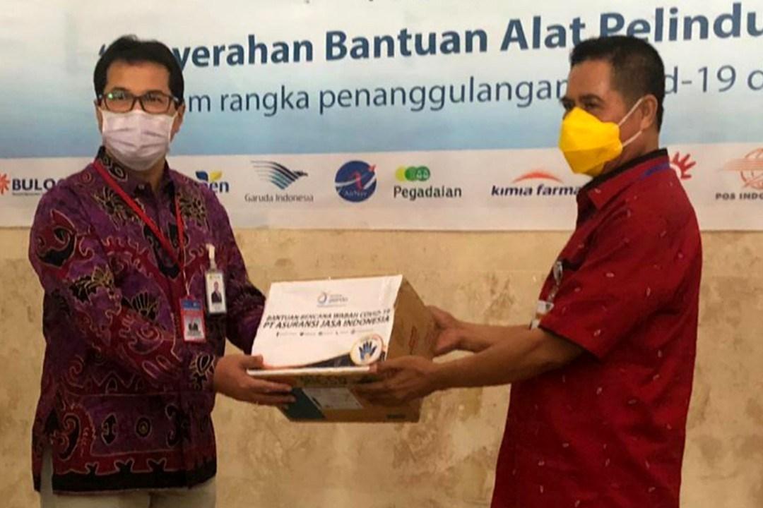 Satgas BUMN di Papua Barat Serahkan Bantuan Penanganan Corona