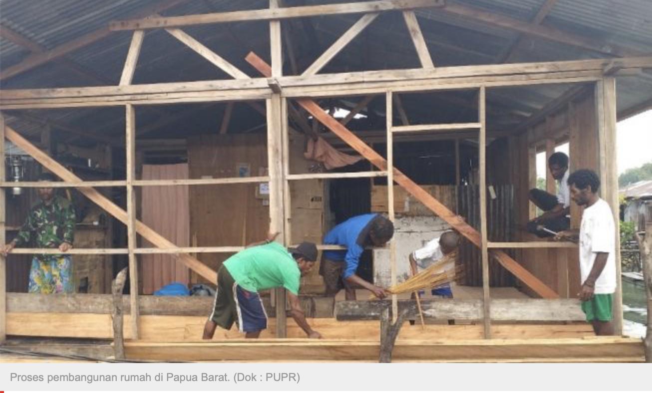 Warga di Papua Barat akan Terima 4.114 Rumah Bantuan Pemerintah