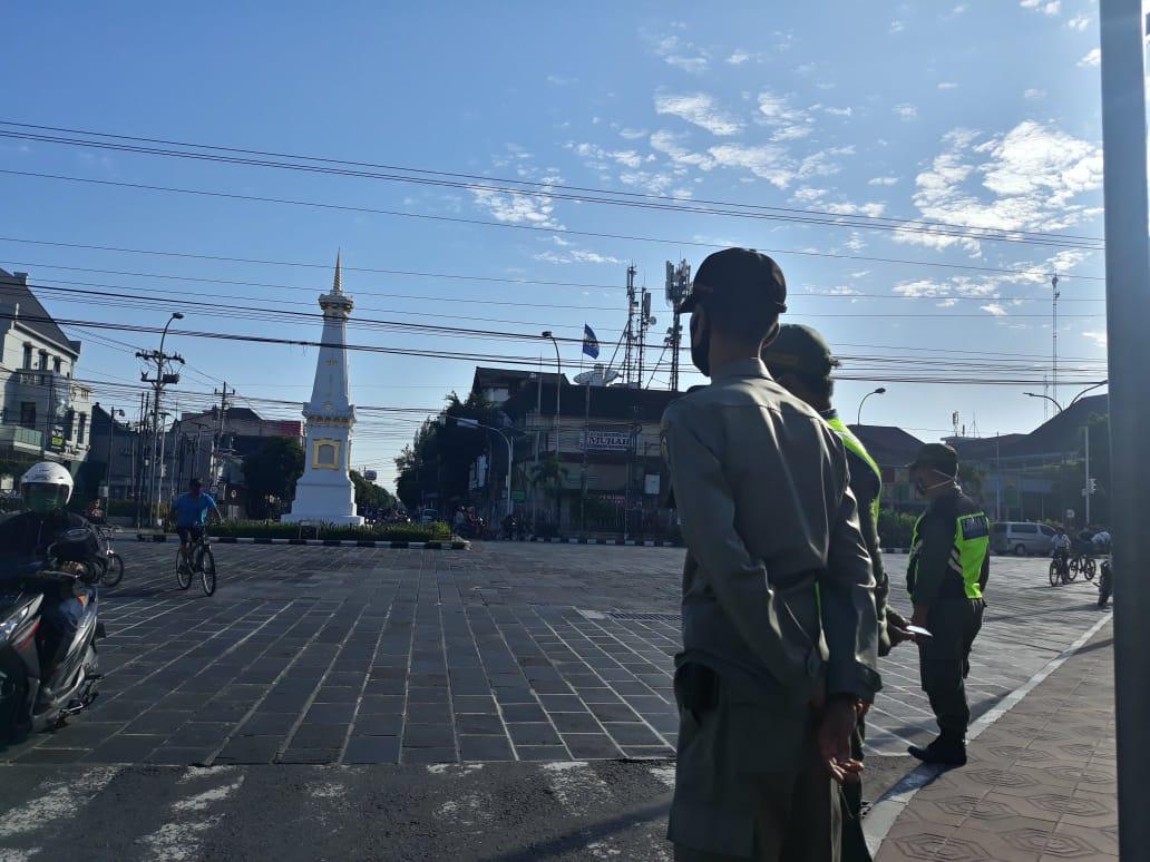 Operasi Displin Sambut New Normal di Tugu Pal, Malioboro dan Titik Nol Kilometer Yogyakarta