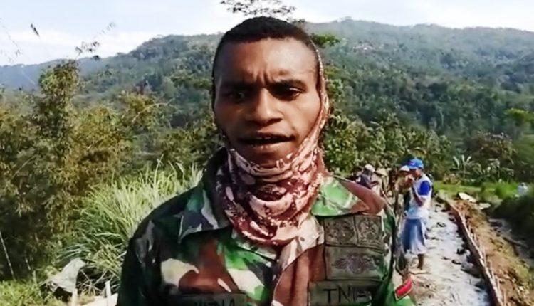 Prajurit Papua Barat Ini Senang Bisa Membaur Dengan Masyarakat Banyumas