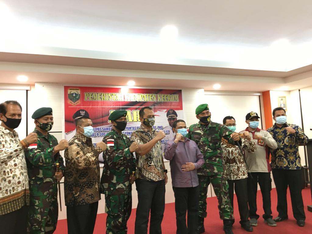 Bupati Markum : Satgas Pamtas RI- PNG Harus Pertahankan Dan Menjaga Stabilitas Keamanan di Wilayah Perbatasan