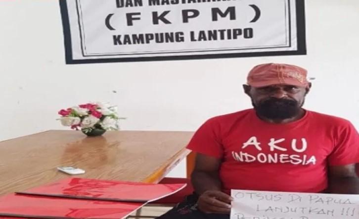Tokoh Adat Kampung Lanitipo – Hone Lama Agus Huby Tomas : Tidak Ada Alasan Untuk Menolak Kelanjutan Otsus