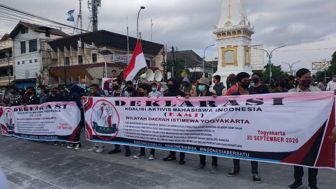 Aksi Mahasiswa Dukung Pemerintah, Tolak Gerakan Provokatif dan Makar