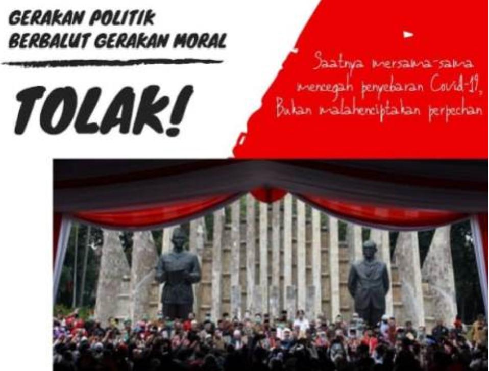Tolak Gerakan Politik Berbalut Gerakan Moral