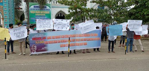 Puluhan Massa di Aceh Utara Tolak Deklarasi KAMI