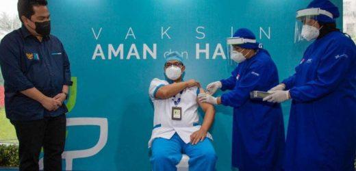 Tinjau Vaksinasi Tenaga Kesehatan, Erick Thohir: Vaksin Sinovac, Aman, Berkhasiat dan Halal