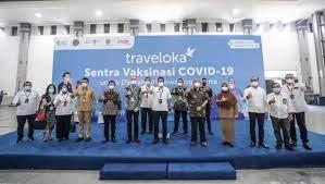 Sentra Vaksinasi Covid-19 Traveloka Resmi Dibuka di Yogyakarta